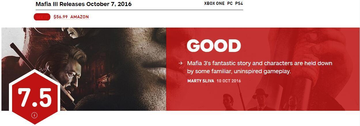 《四海兄弟3》IGN评分7.5分