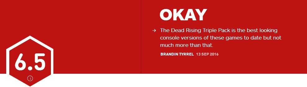 《丧尸围城》重制版IGN评分6.5