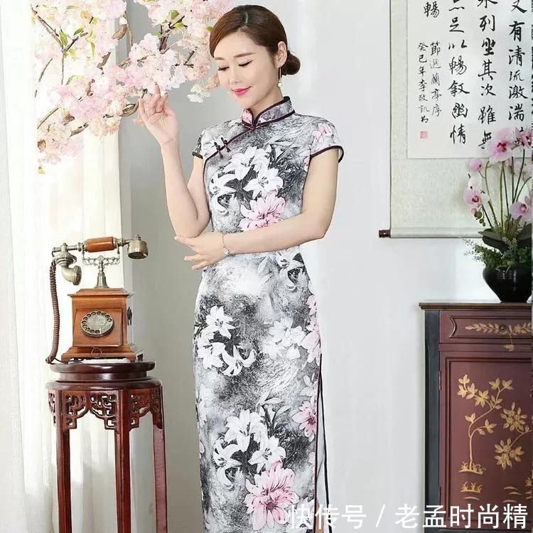水墨中国风旗袍, 端庄风韵, 精品妈妈装!