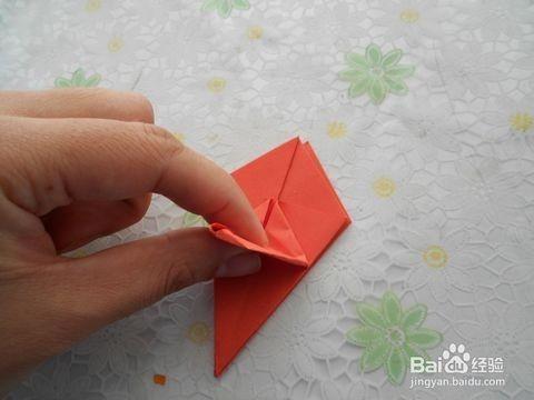 百合花叶子的折法步骤
