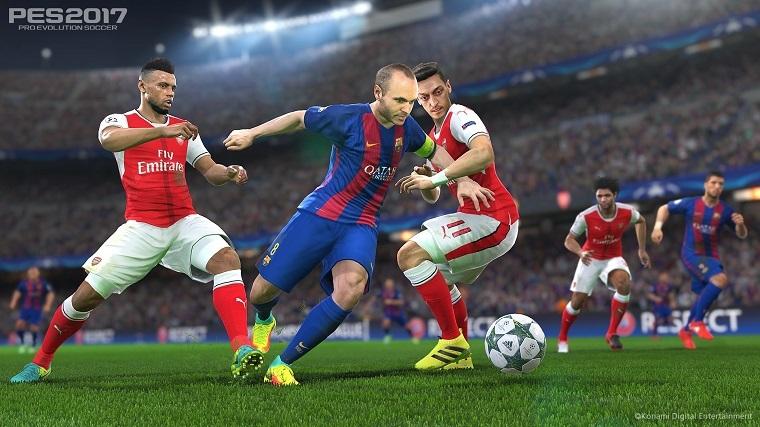《实况足球2017》主机版游戏画面