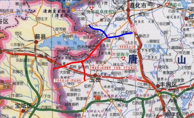 京秦高速天津段在建 ,北京段和其他路段规划中