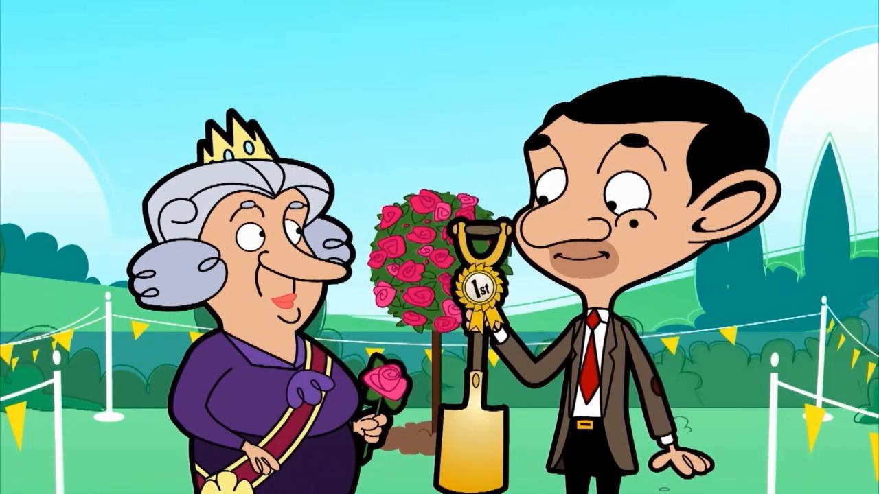 憨豆先生把沾满泥的房东内内送给女王,不料他竟获得冠军了!