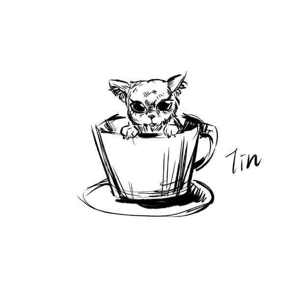 茶杯犬怎么画