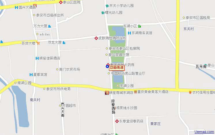 泰安泰山-岱庙地图