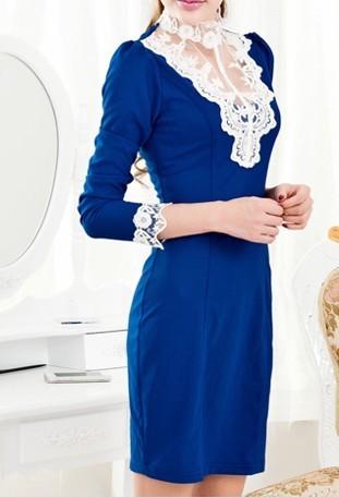 宝蓝色的裙子应该配什么颜色的外套好看呢?