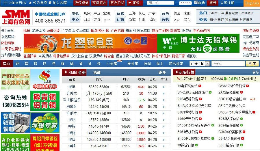 谁有色的最新视频网站_cn),原上海有色金属网,是有色金属行业门户网站.