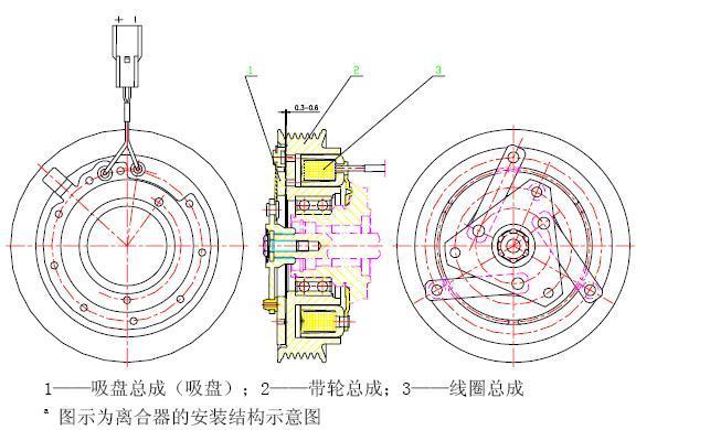 汽车空调电磁离合器