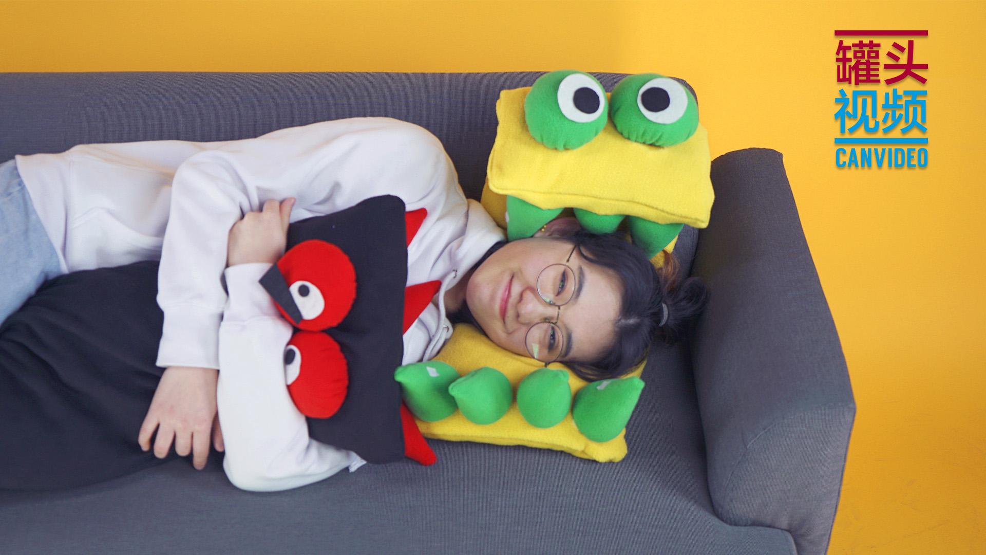 DIY怪兽午睡枕,让小怪兽守护你的小宇宙~