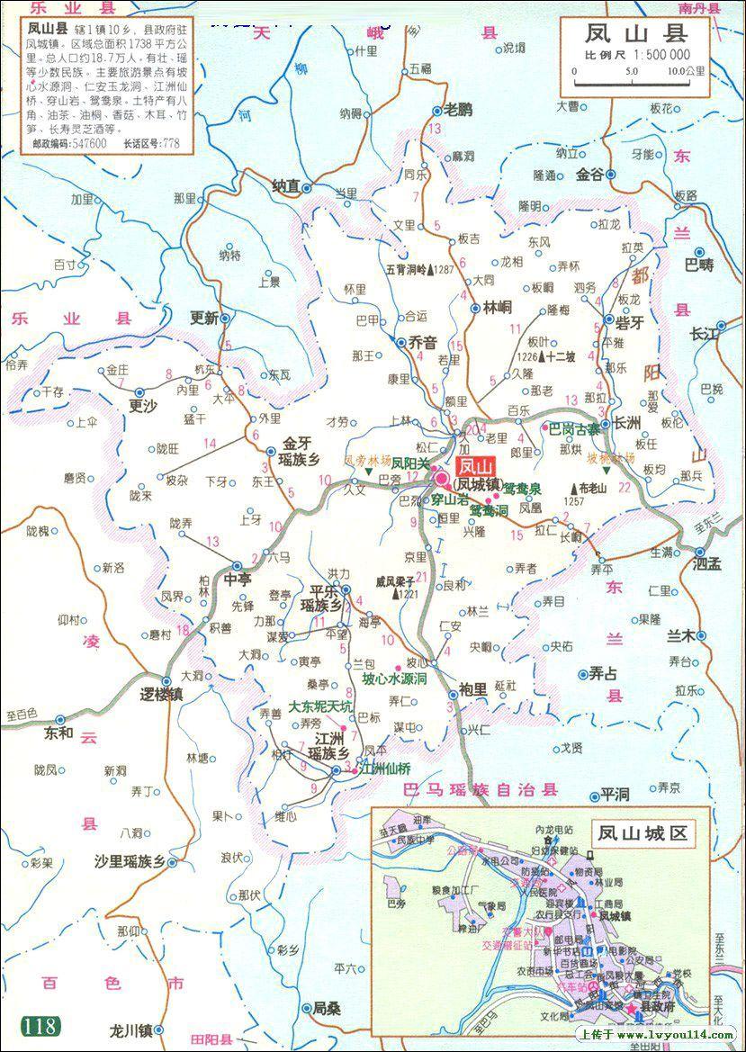 凤山县地图