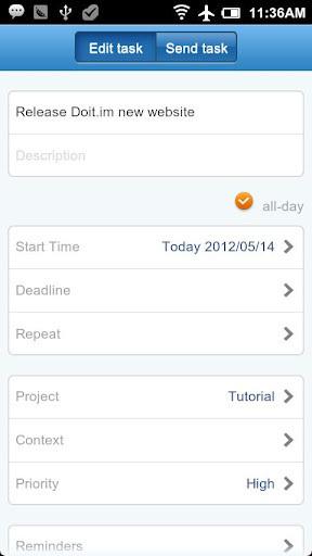 日程时间管理Doit.im 谷歌版截图1