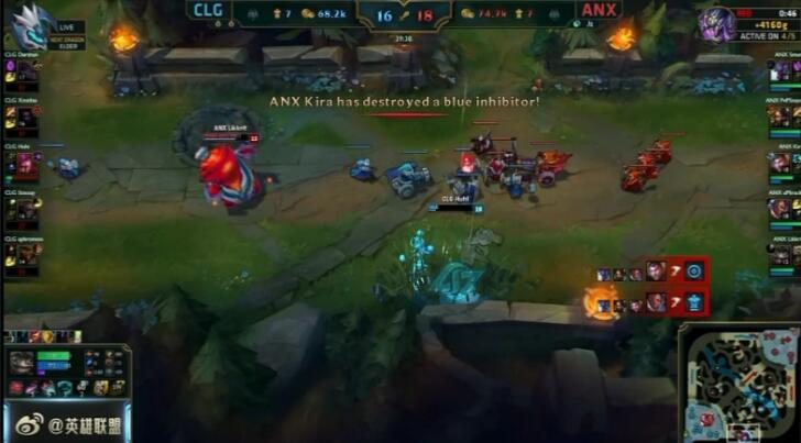 LOL S6总决赛 外卡战队ANX爆冷击败北美劲旅CLG