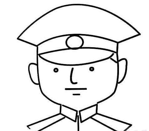 警察叔叔全身的简笔画怎么画