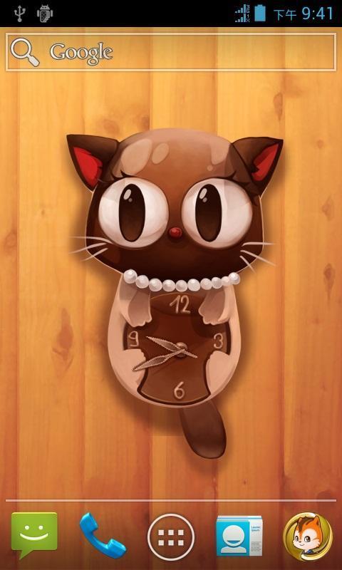 一款精彩至极的可爱猫咪时钟动态壁纸
