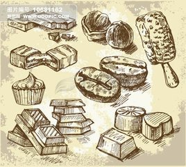 巧克力画_蛋糕怎么画图片