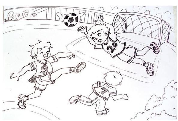 正在踢足球的人怎么简笔画_360问答