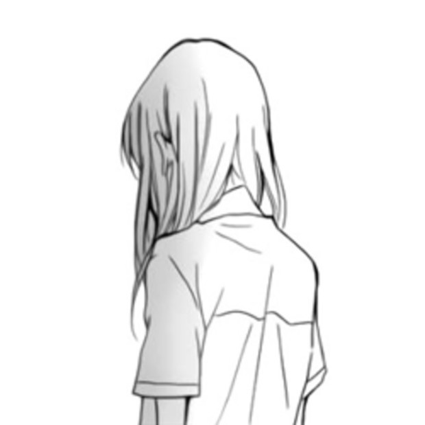 qq头像动漫女生下半身和背影