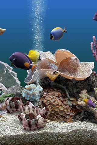 超轻泥制作海底世界 海底世界3D动态壁纸 电脑海底世界壁纸