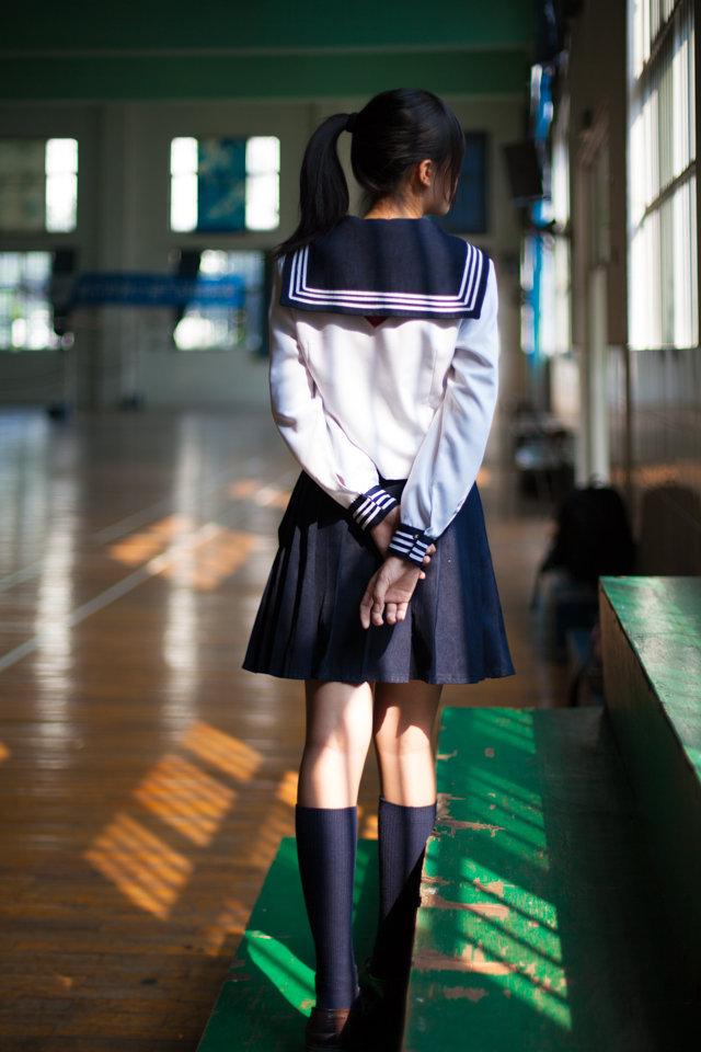 在战前全日本的女学生全部都是穿用水手服