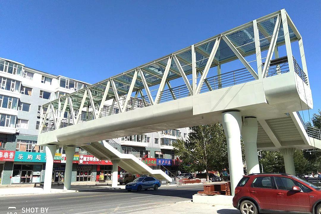 松原乾安第一座过街天桥10月末通行,看看长啥样!