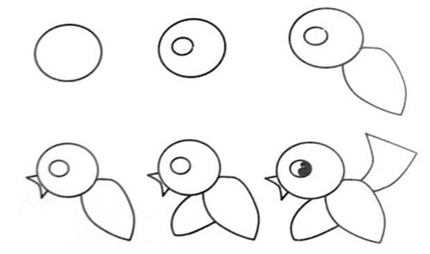 气象鸟简笔画怎么画