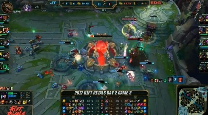 LOL洲际赛亚洲对抗赛EDG VS JT比赛战报 EDG惨遭制裁