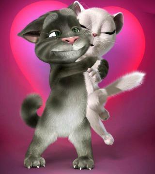汤姆猫情侣头像高清_汤姆猫情侣头像