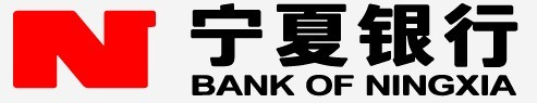 宁夏银行行徽采用银灰底色,红色字母n标志,黑体中英文美术字体,整体图片