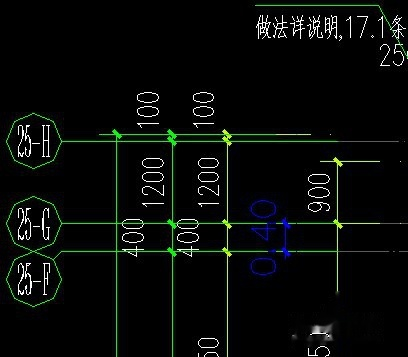 CAD图纸图纸不是1:1,调到正确的尺寸机割线尺寸图片