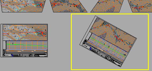 cad坐标中视口不旋转的曲线下缓和斜的cad情况布局公式打印图片