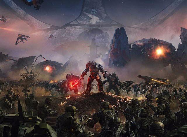 《光环战争2》主视觉艺术图泄