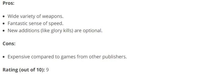 《毁灭战士4》首批媒体评分