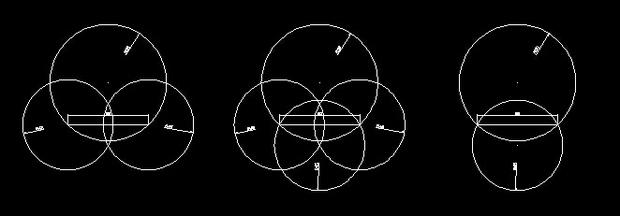 CAD中两圆(R58和R20)相交画一条长度为80的室内设计cad标准v长度图片