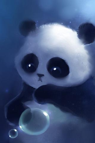 可爱的熊猫壁纸_360手机助手