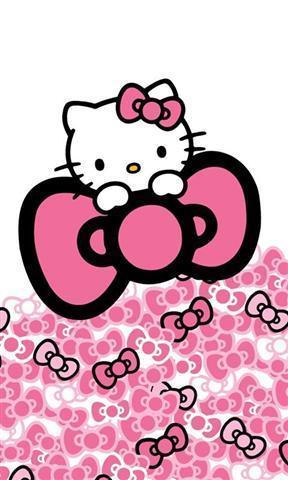 凯蒂猫粉红色的壁纸_360手机助手