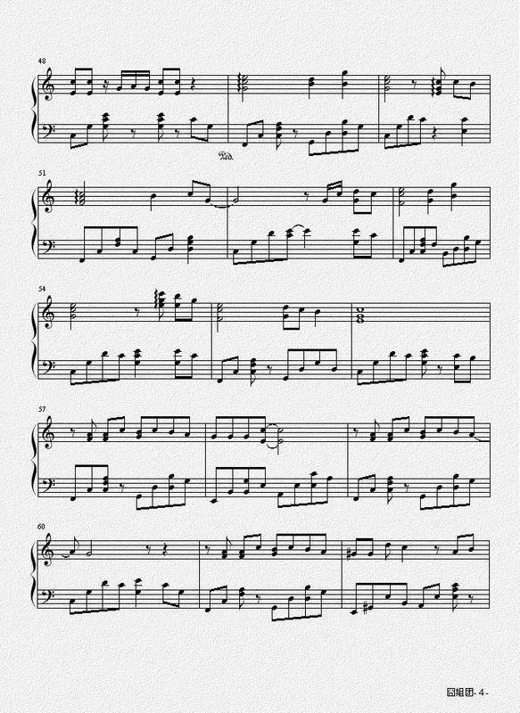 谁知道棉花糖的电子琴歌谱