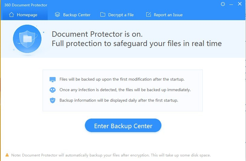 360 Document Protector Screen shot