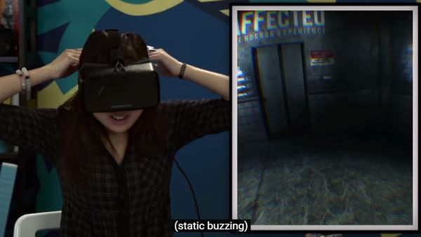 真人测试 VR玩恐怖游戏有多吓人