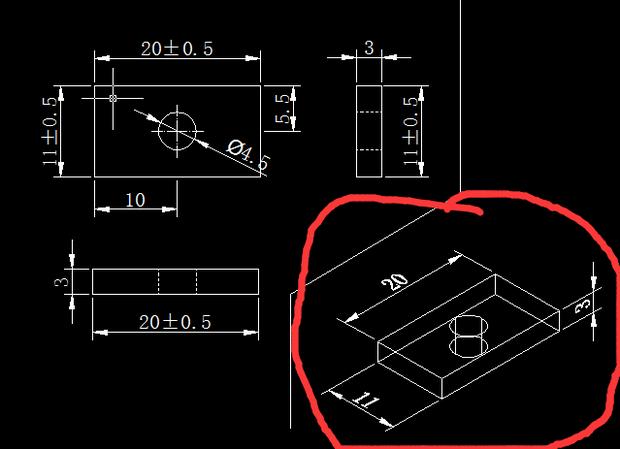 下面哪个立体感的要怎样画,这是在CAD俯视图