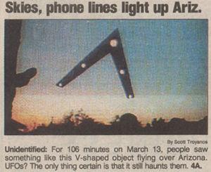 菲尼克斯就是美国凤凰城,当晚先后有几百人目击了这一大型不明飞行物