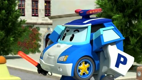 变形警车珀利交通安全篇:不要在停车场打闹