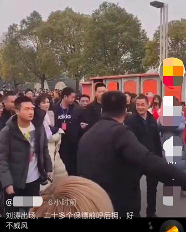 刘涛出街被指排场大,数十位保镖在马路中央开道,行人被迫站一旁
