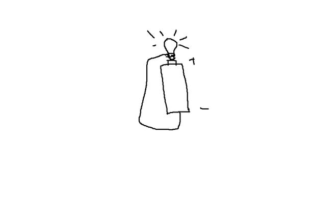 电池是小灯泡亮起来