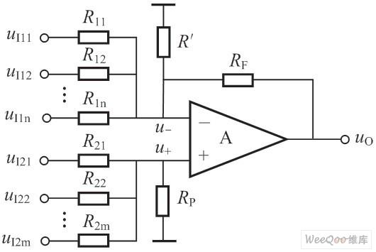 任意比例系数的加减法运算电路