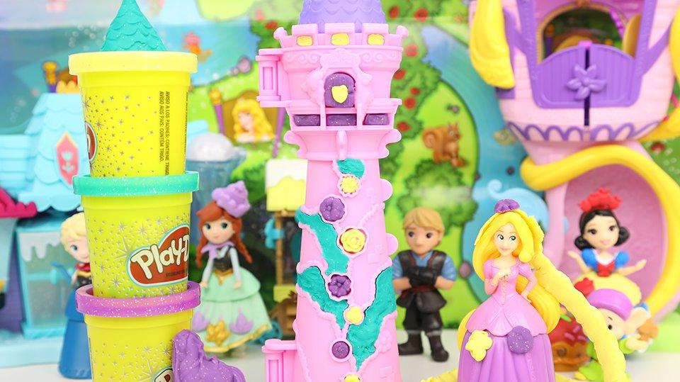 长发公主 闪耀彩泥做的公主长发 培乐多彩泥玩具 趣盒子