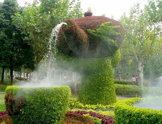 公园景观迷宫手绘效果图