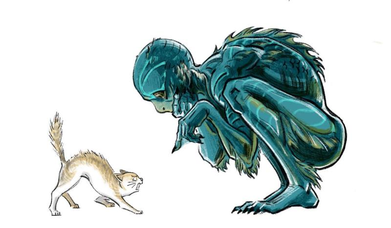 影迷示爱《水形物语》 手绘海报赞绝美鱼人之恋