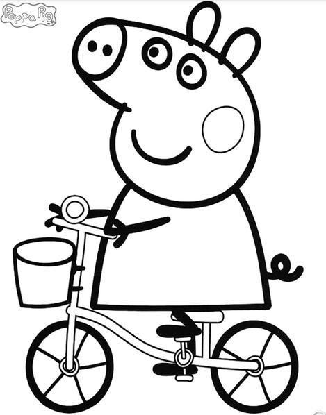 小猪佩奇全集英语版图片大全 粉红猪小妹简笔画