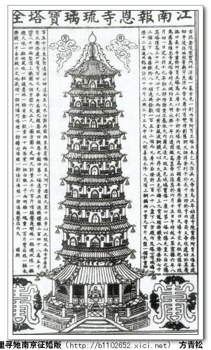 江南大报恩寺琉璃宝塔全图