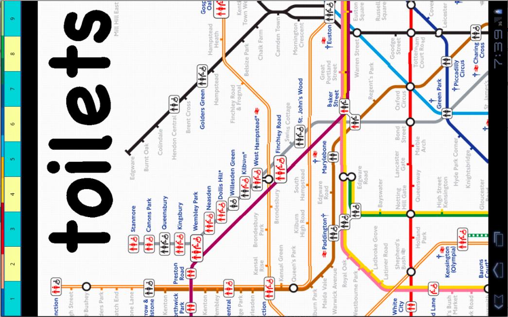 地图旅游 伦敦地铁地图下载